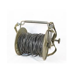 WWII US Field Phone Wire Reel