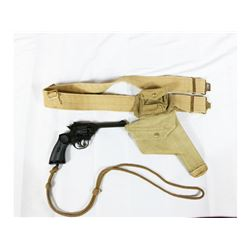 WWII British Holster And Denix Mk IV Webley