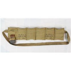 Surplus 30-.06 Ammo In Bandoleer