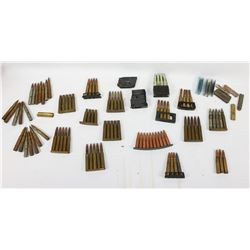 Ammo Lot of Military Rounds and Stripper Clips