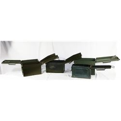 Lot of 5 Empty Ammo Cans