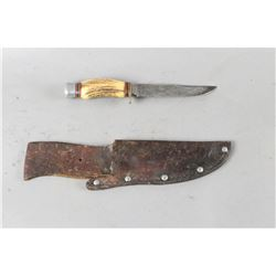 German Stag Engraved Knife