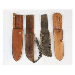 Lot of 4 Scabbards