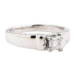 0.25 ctw Diamond Ring - 10KT White Gold