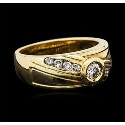 14KT Yellow Gold 0.45 ctw Diamond Ring