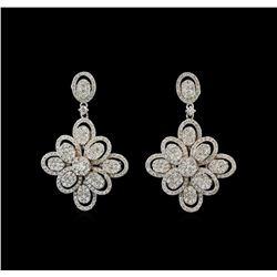 14KT White Gold 2.77 ctw. Diamond Earrings