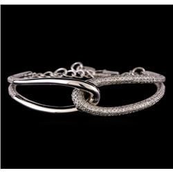 3.48 ctw Diamond Bracelet - 14KT White Gold
