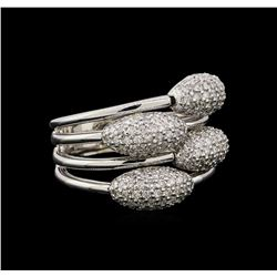 14KT White Gold 0.59 ctw Diamond Ring