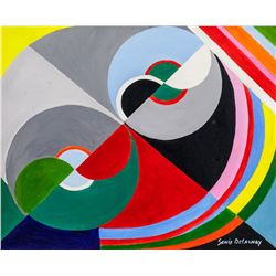 Sonia Delaunay French Oil on Canvas
