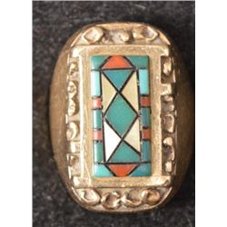 ZUNI INDIAN RING (CAROLYN BOBELU)