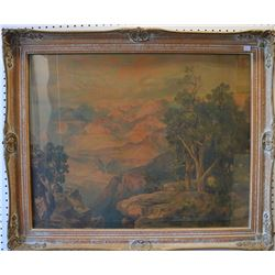 THOMAS MORAN CHROMO LITHOGRAPH / GRAND CANYON