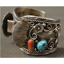 NAVAJO INDIAN WATCH BRACELET (APACHITO)