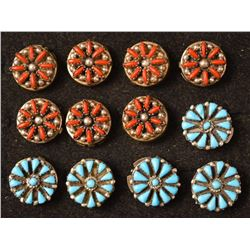 NAVAJO INDIAN BUTTON COVERS
