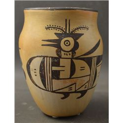 HOPI INDIAN POTTERY VASE (SADIE ADAMS)