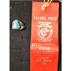 NAVAJO INDIAN RING (CARL CLARK)