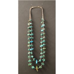 PUEBLO INDIAN TURQUOISE NUGGET NECKLACE