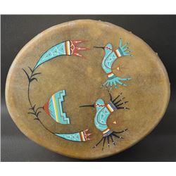 COCHITI INDIAN COTTON WOOD DRUM (GLEN CHALAN)