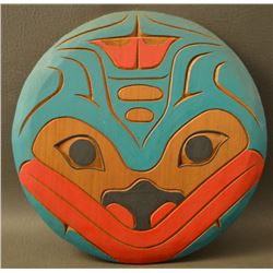 NORTH WEST COAST INDIAN WOODEN WALL PLAQUE
