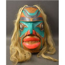 NORTH WEST COAST INDIAN WOODEN MASK