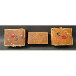 WOODLANDS INDIAN BIRCH BARK BOXES