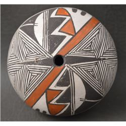 ACOMA INDIAN POTTERY SEED JAR (CARRIE CHARLIE)