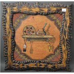 NAVAJO INDIAN SAND PANTING /WOODBURN (THOMAS BENALLY)