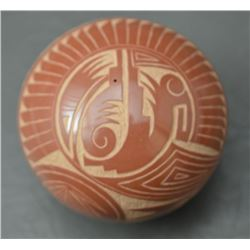 SANTA CLARA INDIAN POTTERY SEED JAR (GRACE MEDICINE FLOWER)