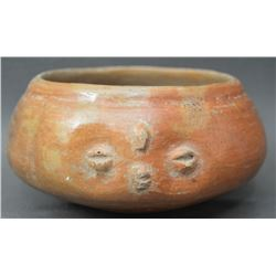 PRE COLUMBIAN POTTERY EFFIGY BOWL