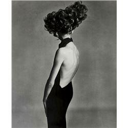 RICHARD AVEDON (1923-2004):Jean Shrimpton, Evening dress by Galitzine.