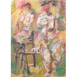 Helen Stein (1896-1964 USA), oil on canvas.