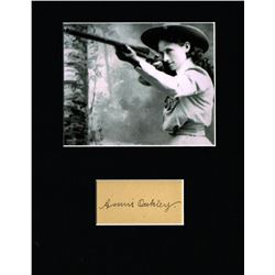 ANNIE OAKLEY (1860-1926). (Previously lot 281).