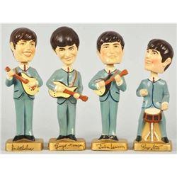 Full set of Vintage Beatles Bobbing Head Mascot Dolls.