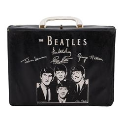 1964 NEMS Air Flite Beatles Black Vinyl Lunchbox.
