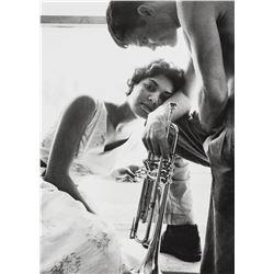 William Claxton (American, 1927-2008). Halina and Chet Baker, Redondo Beach, 1955.