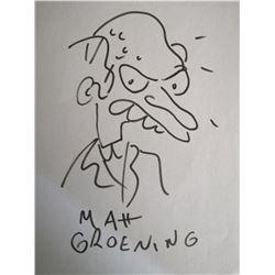 MATT GROENING: MR BURNS. (Previously lot 173).