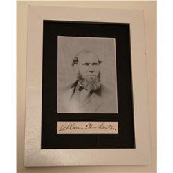 ALLAN PICKERTON (1819-1884). (Previously lot 436).