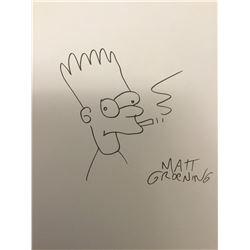 MATT GROENING - BART SIMPSON. (Previously lot 256).