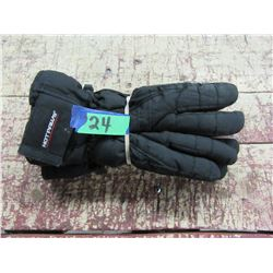 HOT PAWS BLACK WINTER GLOVES (SIZE LARGE)