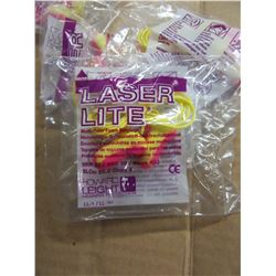 BOX WITH ASSORTED PACKAGES OF LASER LITE HEARING PROTECTION