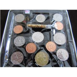 TRAY OF CANADA & WORLD TYPE COIN SET