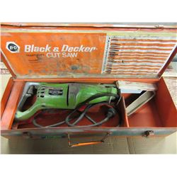 BLACK AND DECKER SAWSALL IN METAL BOX (WORKING)