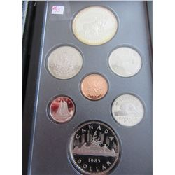 1985 PROOF CASED CANADA DOUBLE DOLLAR SILVER COIN SET