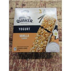 QUAKER VANILLA YOGURT BARS (175 G) - PER BOX