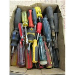 FLAT WITH ASSORTED SCREWDRIVERS & TOOLS