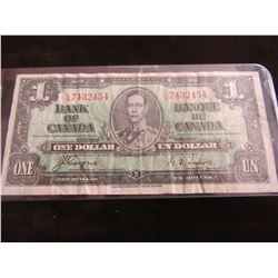 1937 CANADA KING GEORGE VI LEGAL TENDER BANK NOTE