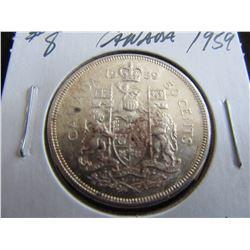 1959 CANADA SILVER HALF DOLLAR