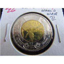 "2014 PROOF ""WAIT FOR ME DADDY"" WORLD WAR II $2 COIN"