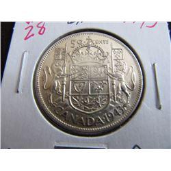 1943 CANADA SILVER HALF DOLLAR