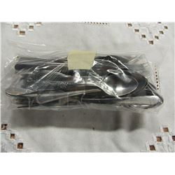 BAG WITH ASSORTED SILVERWARE AND CUTLERY