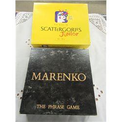 SCATTERGORIES JUNIOR & MARENKO GAMES